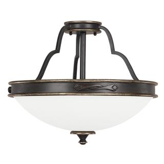 Capital Lighting Wyatt Collection 3-light Surry Semi-Flushmount