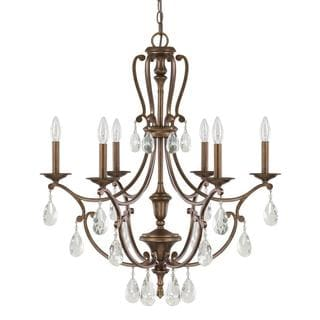 Capital Lighting Claybourne Collection 6-light Suede Chandelier