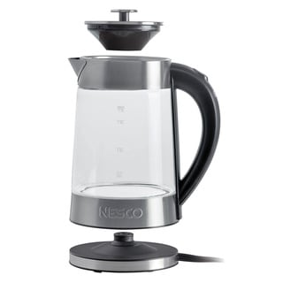 Nesco GWK-02 Grey 1.8-Quart Electric Glass Water Kettle