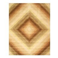 Hand-tufted Wool Contemporary Abstract Desert Star Rug - 5' x 8'