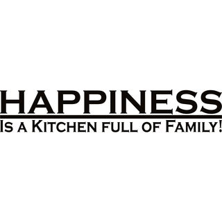 Design on Style Happiness is a kitchen full of family!' Vinyl Lettering