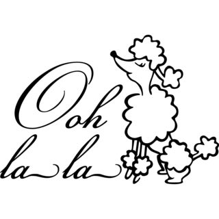 Design on Style Ooh la la Poodle Paris' Vinyl Lettering