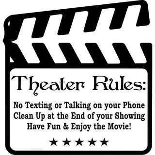 Design on Style Theater Rules Movie Room' Vinyl Lettering