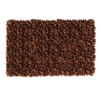 Leather Shaggy Brown Area Rug (5' x 8 ')