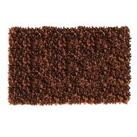 Leather Shaggy Brown Area Rug - 5' x 8 '