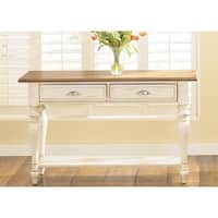 Havenside Home Lands End Bisque and Natural Pine Sofa Table