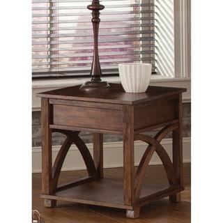 Oak Hidden Drawer End Table