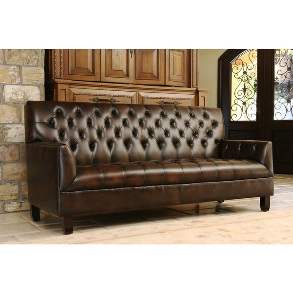 Abbyson Alessio Hand Rubbed Bonded Leather Sofa