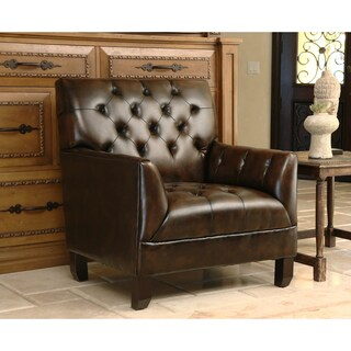 Abbyson Alessio Hand-rubbed Bonded Leather Armchair