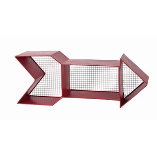 Red Metal Arrow Wall Shelf
