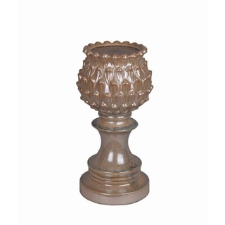 Large Tan Ceramic Candle Holder
