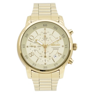 Seiko Women's SNDW84 Goldtone Chronograph Watch