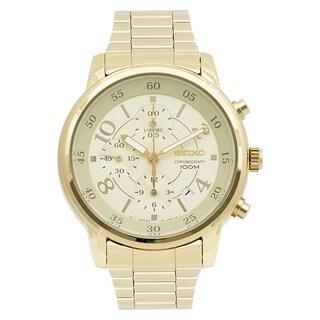 Seiko Women's SNDW84 Goldtone Chronograph Watch