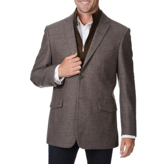 Prontomoda Europa Men's Brown Wool/ Silk Sportcoat
