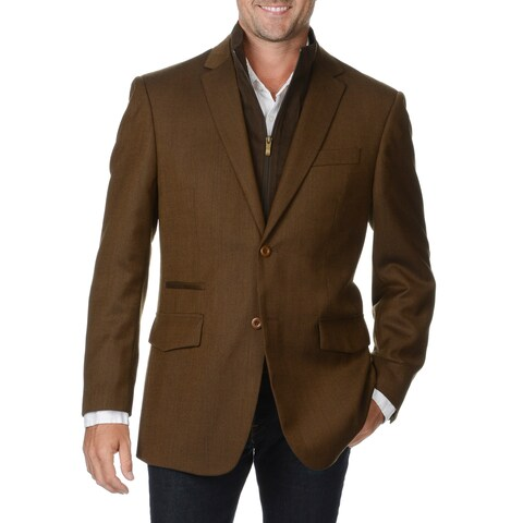 Prontomoda Europa Men's Brown Wool 2-button Sportcoat