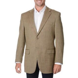 Prontomoda Italia Men's Beige Wool/ Cashmere Sportcoat