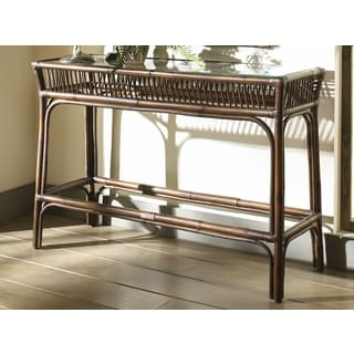 rattan console table. Panana Jack Bora Console Table With Glass Rattan