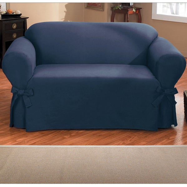 Slipcover For Sofa Without Arms: Shop QuickCover Duck One-piece Relaxed Fit Sofa Slipcover