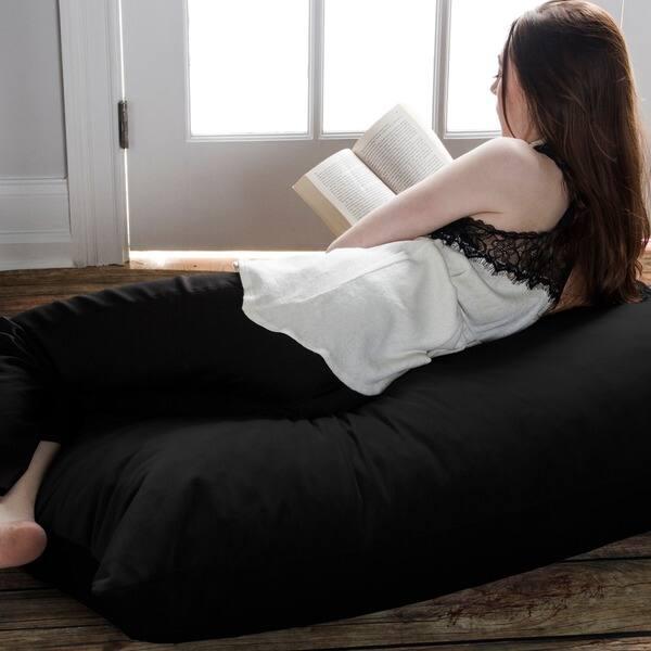 Sensational Shop Jaxx 3 5 Large Bean Bag Floor Pillow Free Shipping Spiritservingveterans Wood Chair Design Ideas Spiritservingveteransorg