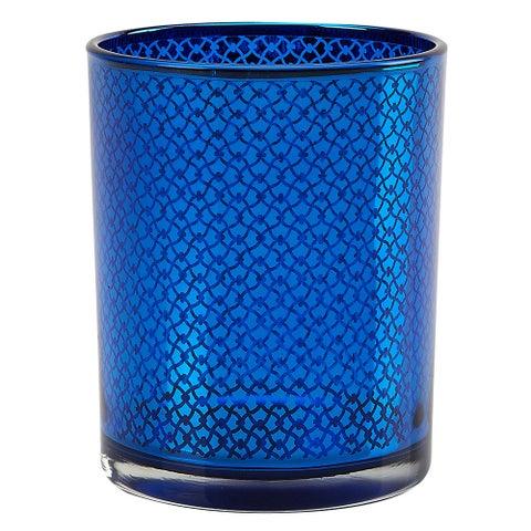 IMPULSE! Orbit Blue Glass Link-pattern Votive (Set of 3)
