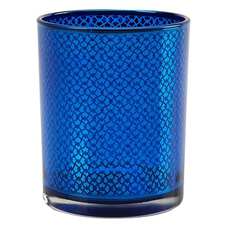 IMPULSE! Orbit Blue Glass Link-pattern Votive (Set of 3)