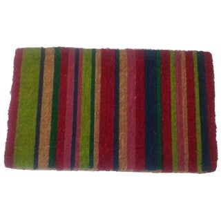 Multicolor Striped Door Mat