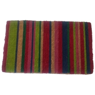 Shop Multicolor Striped Door Mat Free Shipping Today