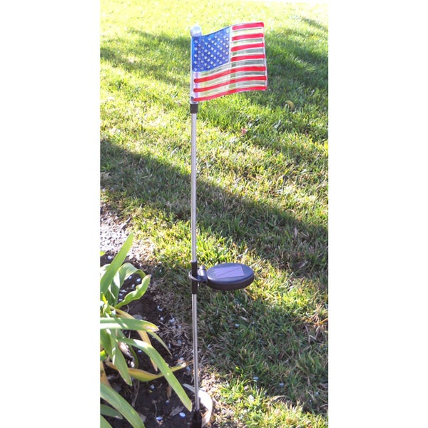 Tricod U.S. Flag Solar Garden Stake (Set Of 2)