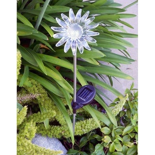 Tricod Solar-powered Sun Flower Yard Stake (Set of 2)