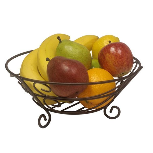Classic Bronze Finished Fruit Basket