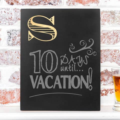 Personalized Initial Chalkboard Sign