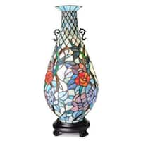 Tiffany-Style Twinkle Stained Glass Vase Accent Lamp