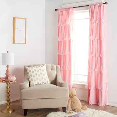 """Lush Decor Nerina Ruffled Curtain Panel - 54""""w x 84""""l - 54""""w x 84""""l"""