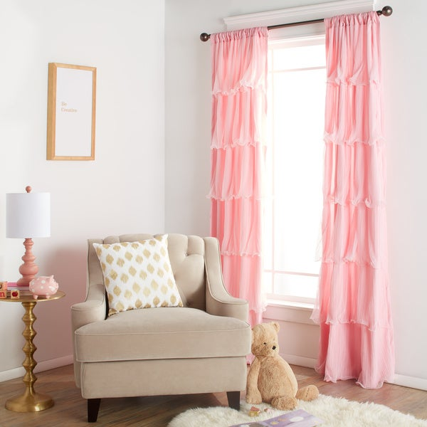 Lush Decor Nerina Ruffled Curtain Panel - 54 x 84 - Free Shipping On ...