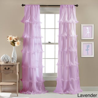Lush Decor Nerina Ruffled Curtain Panel