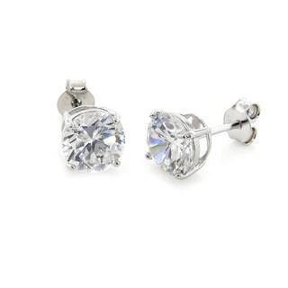 Eternally Haute Sterling Silver 7ct TGW Cubic Zirconia Stud Earrings