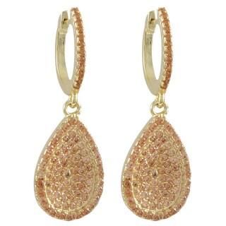 Luxiro Sterling Silver Cubic Zirconia Dangle Earrings