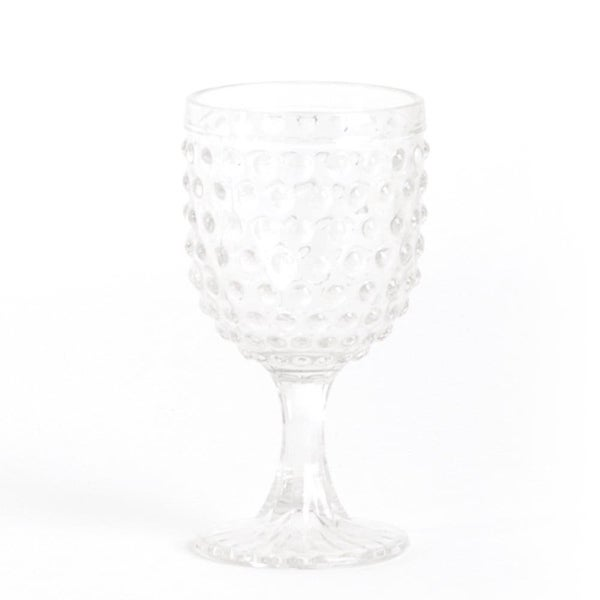 Hobnail Water Goblet Glass (set of 6)