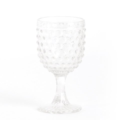 Hobnail Water Goblet Glass (set of 6)