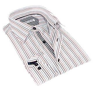 John Lennon Men's White and Beige Striped Sport Shirt|https://ak1.ostkcdn.com/images/products/9426130/P16612631.jpg?impolicy=medium