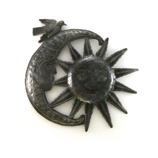 Handcrafted Recycled Steel Drum Good Morning Sun Wall Art (Haiti)