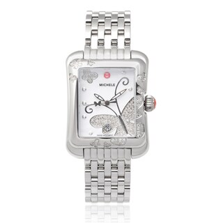 Michele Stainless Steel 'Extreme Butterfly' 3/5 TDW Diamond Link Watch (I-J, I1-I2)