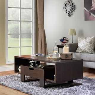 Furniture of America Oreki Modern Espresso Cut-Out Coffee Table