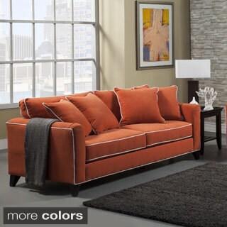 Furniture of America Alton Contemporary Chenille Sofa