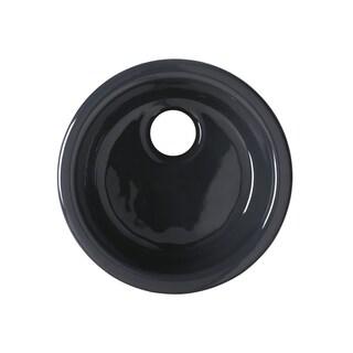 Kohler Porto Fino Dual Mount 18-3/8 x 18-3/8 x 8.625 0-hole Single Bowl Entertainment Sink in Black