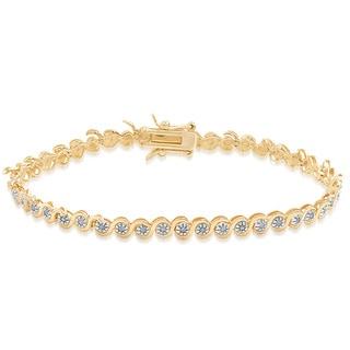 Link to Finesque Sterling Silver 1/5 Carat Diamond Link Bracelet Similar Items in Bracelets