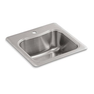 Kohler Staccato Drop-in Stainless Steel 8.3125 x 20 x 20 1-hole Single Bowl Kitchen Sink