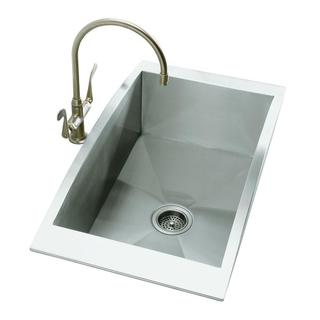 Kohler Swerve Top Mount Stainless Steel 33 x 18 x 11.75 0-hole Single Bowl Kitchen Sink