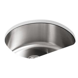 Kohler Undertone Undercounter Stainless Steel 24-1/4 x 21-1/4 x 9.5 0-hole Single Bowl Kitchen Sink