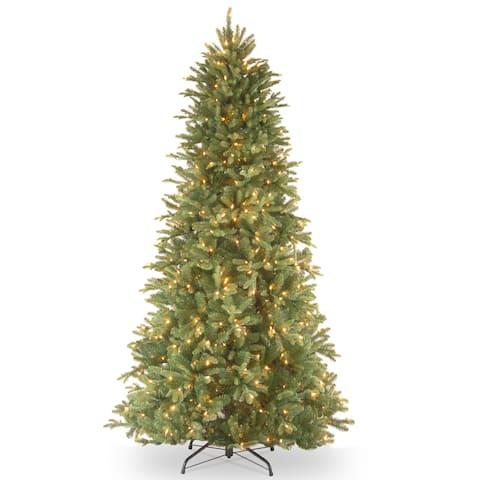 6.5-foot Realistic Fir Lit Slim Tree
